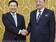Le vice-PM et ministre des AE Pham Binh Minh en visite officielle en RPDC