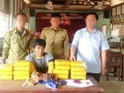 Quang Tri: Un Laotien arrêté pour trafic de méthamphétamine