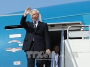 Le dirigeant Nguyen Phu Trong quitte Hanoi pour se rendre au Lao et au Cambodge