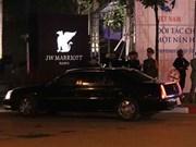Le président américain Donald Trump arrive à Hanoi