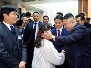 Le président de la RPDC Kim Jong-un arrive à Hanoï