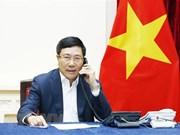Le vice-PM et ministre des AE en conversation téléphonique avec le ministre malaisien des AE