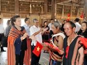 La présidente de l'Assemblée nationale en tournée à Kon Tum