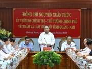 Le Premier ministre Nguyen Xuan Phuc en visite de travail à Quang Nam