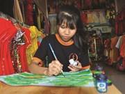 Thach Chành Dô peint pour elle et pour la vie