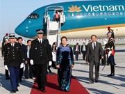 La présidente de l'Assemblée nationale entame sa visite en France