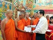 Fête du Nouvel An des Khmers : le président du CC du Front de la Patrie à Soc Trang