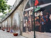 La voûte dans le Vieux quartier de Hanoï ouverte