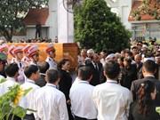 Cérémonie d'enterrement de l'ancien président Le Duc Anh à Ho Chi Minh-Ville