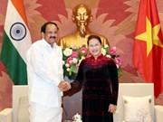 La présidente de l'Assemblée nationale reçoit le vice-président indien