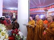 Vesak: des délégués assistent à la cérémonie de prière pour la paix et la prospérité à Fansipan