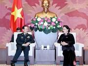 La présidente de l'AN reçoit le ministre chinois de la Défense nationale