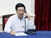 Conversation téléphonique entre le vice-PM Pham Binh Minh et le chef de la diplomatie singapourienne