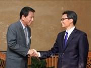 Le vice-PM Vu Duc Dam rencontre l'ambassadeur spécial Vietnam-Japon