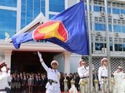 Laos : cérémonie de lever du drapeau de l'ASEAN