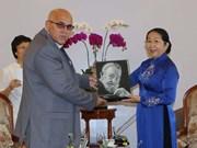 La délégation du Comité de défense de la Révolution de Cuba à Ho Chi Minh-Ville