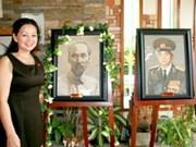 Les 52 tableaux en sable exposées à Hanoi