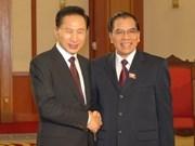 Le leader du PCV reçoit le président sud-coréen