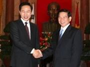 Entretien Nguyên Minh Triêt et Lee Myung-bak