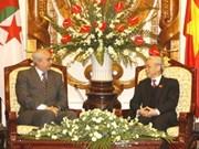 VN-Algérie: entretien entre les deux présidents de l'AN