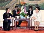 Nguyen Thi Doan clôture sa mission en Chine