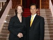 Les dirigeants vietnamiens reçoivent le PM australien Julia Gillard