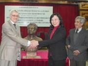 Un buste du grand poète russe Pouchkine à Hanoi