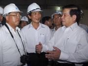 Nguyen Minh Triet en déplacement à HCM-Ville