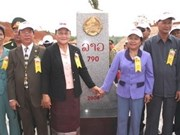 Construction de 18 bornes à la frontière avec le Laos