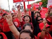 """Manifestation des """"chemises rouges"""" à Bangkok"""