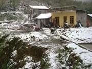 De la neige recouvre les provinces montagneuses