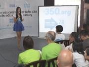 Campagne sur le changement climatique 350.org lancé au Vietnam