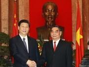 Entretien entre des dirigeants vietnamiens et Xi Jinping