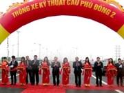 Mise au trafic du pont de Phu Dong 2