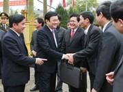 Tournée du président Truong Tan Sang à Thai Binh