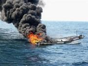 Incendie en mer : trois marins vietnamiens secourus