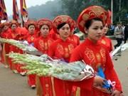 Ouverture de la fête des rois Hung 2012