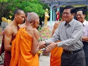 Voeux de Nouvel An des Khmers par le vice-PM Vu Van Ninh