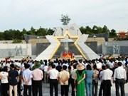 Inauguration du lieu de culte du Cimetière militaire de Duong 9