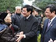 Le chef de l'Etat visite la province de Tuyen Quang