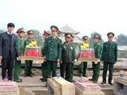 Nghe An: inhumation des restes de soldats tombés au Laos
