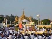 Procession de feu le roi Norodom Sihanouk à Phnom Penh