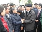 Le leader du Parti présente ses voeux du Tet Thach That