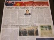 La presse australienne loue les relations avec le Vietnam