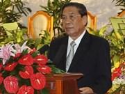 Le président laotien formule ses voeux du Nouvel An
