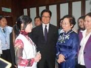 La vice-présidente Nguyên Thi Doan au Sommet mondial des femmes