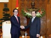 Le vice-PM Vu Van Ninh reçoit le président de la JETRO