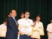Les meilleurs élèves de Hô Chi Minh-Ville à l'honneur