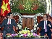 Nguyen Sinh Hung apprécie les relations entre PCV et PCJ