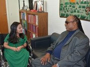 """Crystal"" Phuong Anh rencontre Stevie Wonder"
